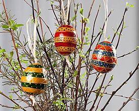 Dekorácie - Veľkonočné maľované vajíčka - 10553102_