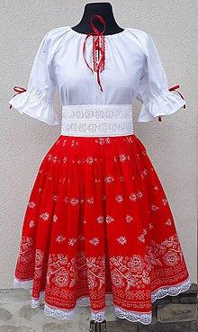 Šaty - Folklórny komplet s opaskom - 10553627_