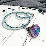 Náhrdelníky - Harmonie - náhrdelník z PET - 10553261_