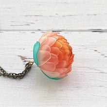 Náhrdelníky - Meruňka - listopadkový náhrdelník z PET - 10553159_
