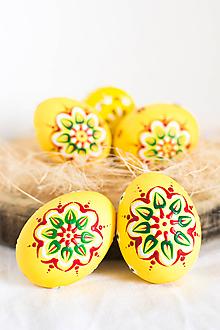 Dekorácie - Slepačie kraslice - žlté - 10555288_