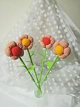 Dekorácie - Akcia - Kvety k MDŽ - látkové  - 10553080_