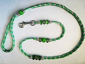 Pre zvieratká - Vôdzka zeleno-krémová - 10553317_