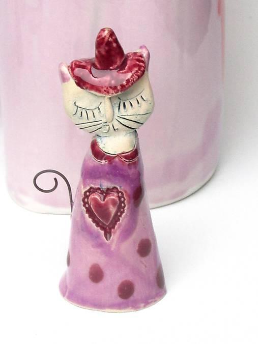 mačka figúrka ružová