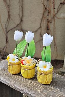 Dekorácie - Veľkonočný tulipán SKLADOM - 10555896_