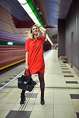 Šaty - Červené úpletové šaty - 10554805_