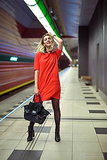 Šaty - Červené úpletové šaty (38) - 10554805_