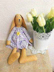 Dekorácie - ZAJAČICA - zajka, zajko - 10555701_