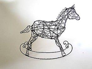 Socha - Hojdací koník * 20 cm - 10553497_
