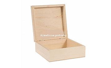 Polotovary - Drevená krabica 19x19cm - 10555453_