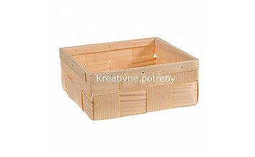 Polotovary - Košík 21,5x21,5 cm - 10555460_