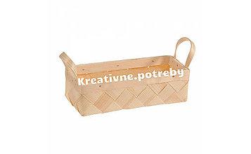 Polotovary - Košík s uškami 21.5x8.5cm - 10555495_