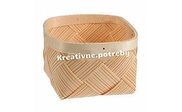 Polotovary - Košík 15.5x15cm - 10555851_
