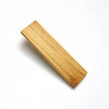 Ozdoby do vlasov - Drevená pinetka do vlasov - špaltovaná brezová - 10555370_