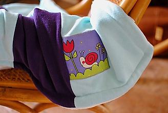 Textil - Fialovo-tyrkysová dečka - 10555568_
