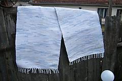 Úžitkový textil - Tkané koberce bielo-modro-žlto-oranžové 2 ks - 10553068_