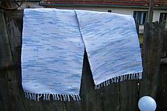 Úžitkový textil - Tkané koberce bielo-modro-žlto-oranžové 2 ks - 10553076_