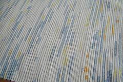 Úžitkový textil - Tkané koberce bielo-modro-žlto-oranžové 2 ks - 10553789_