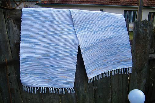 Tkané koberce bielo-modro-žlto-oranžové 2 ks