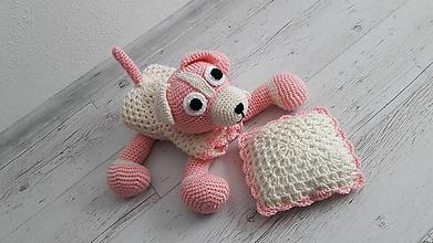 Textil - prikrývka psíková - maslovo-ružová - 10555822_