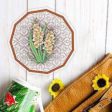 Pomôcky - Podšálky kvetové (elegantné - marhuľové kvety) - 10554491_