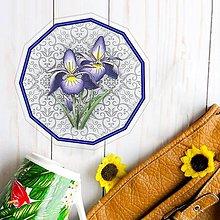 Pomôcky - Podšálky kvetové (elegantné - indigo kvety) - 10554494_