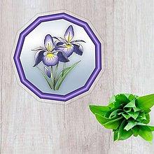 Pomôcky - Podšálky kvetové (nežný prechod - indigo kvety) - 10554499_