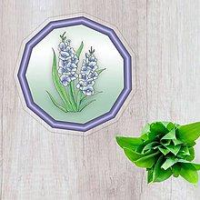 Pomôcky - Podšálky kvetové (nežný prechod - belasé kvety) - 10554500_