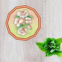 Pomôcky - Podšálky kvetové (nežný prechod - broskyňové kvety) - 10554502_