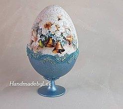 Dekorácie - Vajíčko so stojanom - Vintage modré - 10556817_