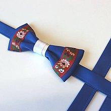Doplnky - Saténový folk motýlik - 10556257_