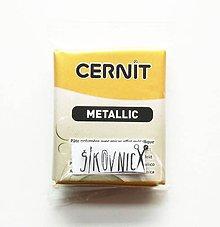 Modelovacie hmoty - Cernit 56g, METALLIC, metalická zlatá 050 - 10558255_