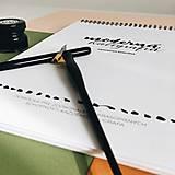 Návody a literatúra - Pracovný zošit: Kaligrafická ŠABLÓNA - prázdna - 10558306_