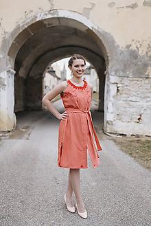 Šaty - Tehlové košeľové šaty Šariš - 10559144_