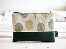 Kozmetická taška veľká - zelené listy