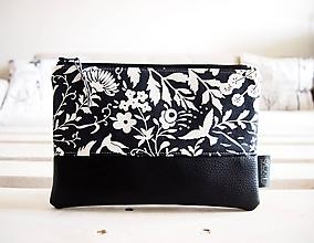 Taštičky - Kozmetická taška veľká - čiernobiela - 10558359_