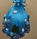 Dekorácie - Velikonoční kraslice XXL - modrá - 10557880_