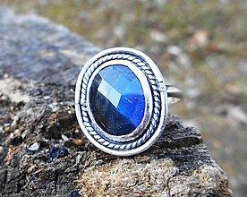 Prstene - Strieborný Prsteň s Labradoritom - 10558592_