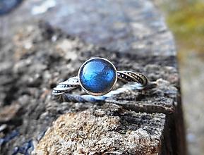 Prstene - Strieborný Prsteň s Labradoritom - 10558693_