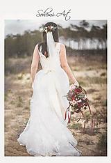 Ozdoby do vlasov - Dlhší svadobný polvenček - 10560055_