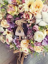 Dekorácie - Venček so zajkom - 10556386_