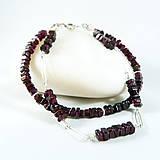Náramky - Stříbrný náramek s granáty Mora - 10557653_