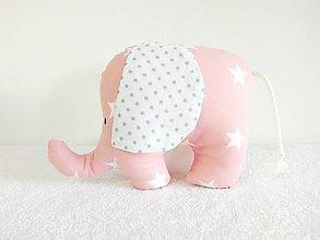 Hračky - Sloník Elliot (Ružový s hviezdičkami) - 10559222_
