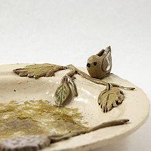Nádoby - Závesné pítko pre vtáčiky z keramiky - priemer 18,5 cm - 10557399_