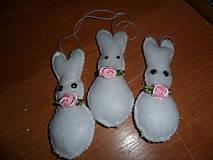 Dekorácie - Veľkonočný zajačik - sada 3 ks. - 10559148_