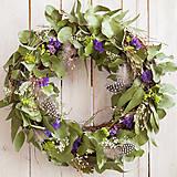 Dekorácie - Eukalyptový veniec na dvere ...prírodný, voňavý - 10557041_