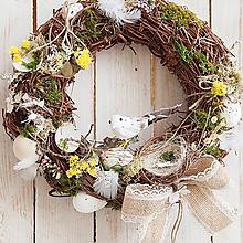 Dekorácie - Jarný veniec ... vtáčiky... - 10557015_