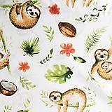 Textil - leňochy; 100 % bavlna, šírka 160 cm, cena za 0,5 m - 10556331_