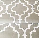 Textil - Orient; 100 % bavlna, šírka 160 cm, cena za 0,5 m (sivo-biela) - 10557805_