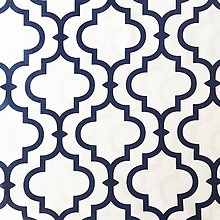 Textil - Orient; 100 % bavlna, šírka 160 cm, cena za 0,5 m (bielo-modrá) - 10557767_